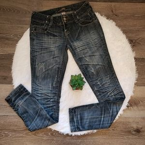 Almost Famous Distressed Demin Jeans